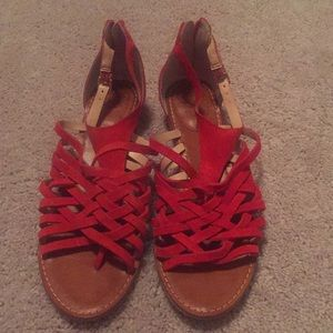 Red Vince Camuto sandals